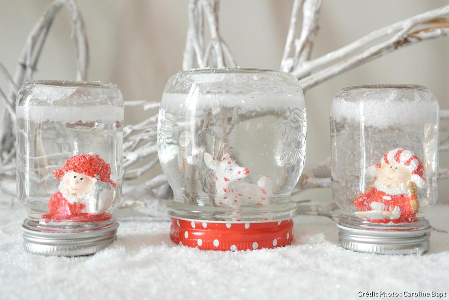 Boule à neige faite maison